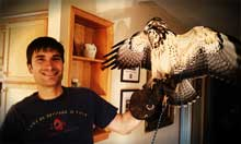 Rob Probst with Falcon
